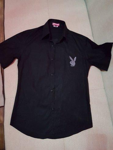 стильная мужская рубашка из хлопка размер s-m в Лебединовка