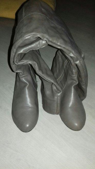 Cizme sive iznad kolena,broj 37 od eko koze,u super stanju! - Nis