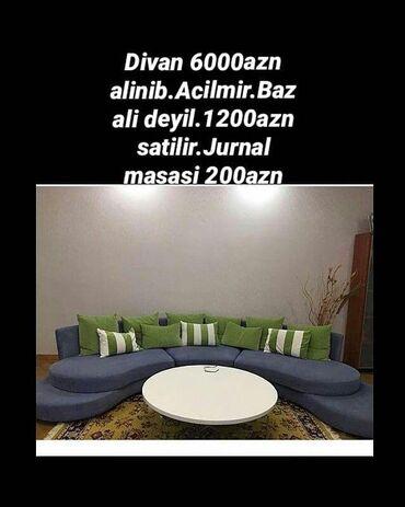 Divan 6000 alinib, açilmir,bazali deyil,divan 1200 man, jurnal masasi