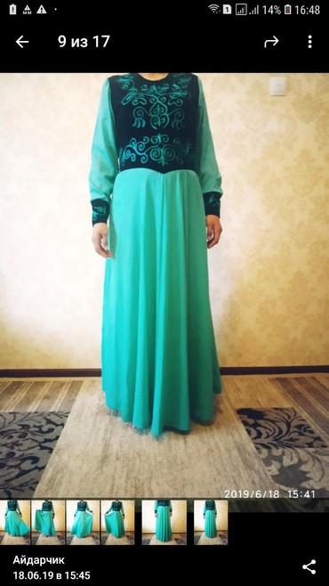 платье из шифона в Кыргызстан: Национальное дизайнерское платье,из дорогого шифона . Одевалось один