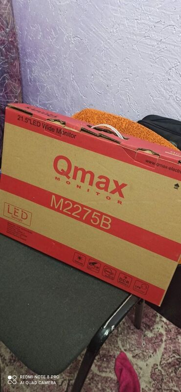 мониторы 27 28 9 в Кыргызстан: Монитор Qmax 21.5 LED. Весь комплект. Провода, документы, коробка. В