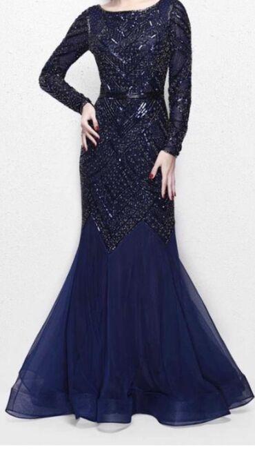 вечернее платье в пол синего цвета в Кыргызстан: Продаю новое платье в пол от европейского производителя.Размер