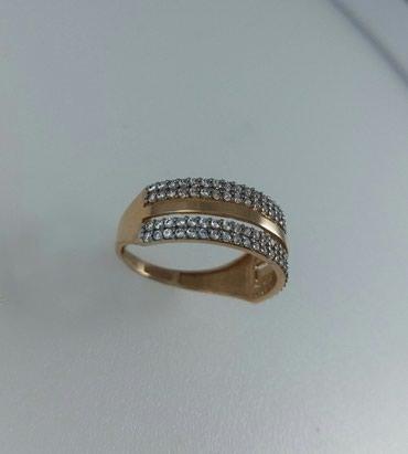 Кольцо из красного золота с цирконом. в Лебединовка