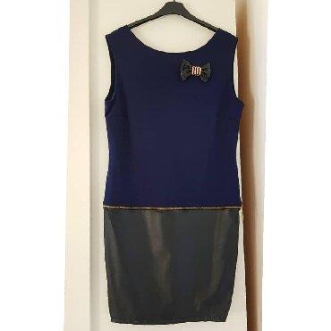 1195 oglasa: Prelepa haljina, extra stoji Kombinacija koze i pamuka Za sve kombinac