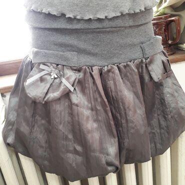 Siva suknja - Srbija: Balon suknja metalik sive boje, vel xs/S, kao nova