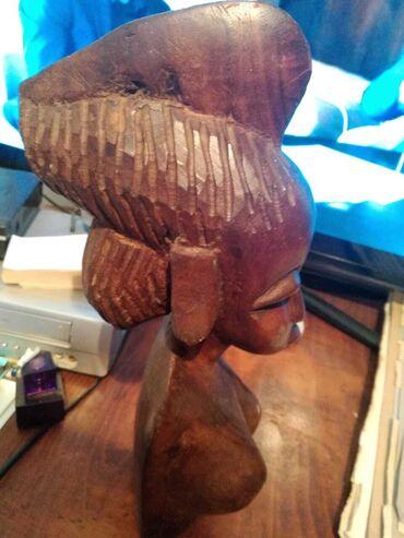 afrika kolqotları - Azərbaycan: Antik taxta figur afrika