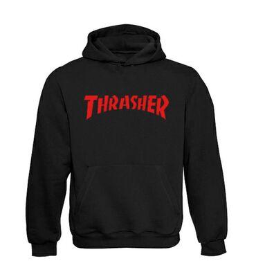Thrasher Skateboard Magazine Classic Red Logo Duks Velicine: S, M, L