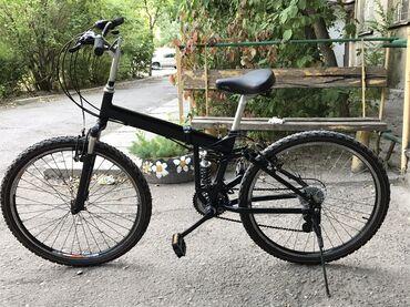 Продаю корейский велосипед двух подвесный складной очен удобно