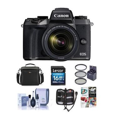 Canon M5 Mirror less Digital Camera with 18-150mm Lens and Accessories