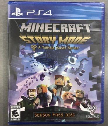 Ps4 üçün Minecraft story mode oyun diski. Yenidir Ps4 lenti bağlamada - Bakı
