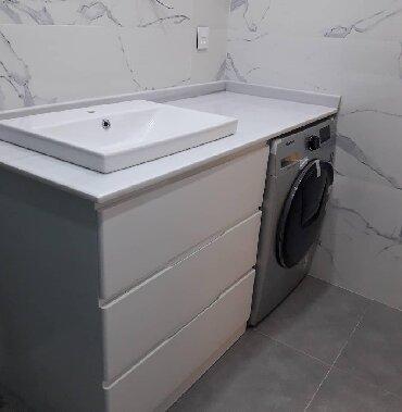 Xırdalan şəhərində Paltar yuyan üçün moydadir hazirlanir pvc plastikle duş kabin ara