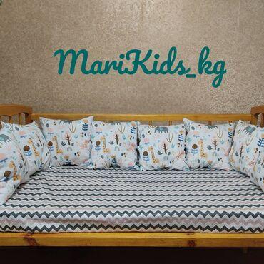 спящий ребенок на подушке в Кыргызстан: Продаю бортики- подушки на стандартную кроватку или на круглую. В