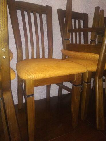 стол и стулья для гостиной в Кыргызстан: Продается стол со стульями (12 шт). Цена договорная. Покупали для себя