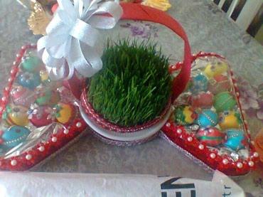 Bakı şəhərində Hediye novruz bayraminda gelin ucun yumurta xoncasi