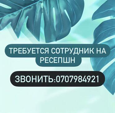 Требуется администратор бишкек - Кыргызстан: Ресепшионист. С опытом. 5/2