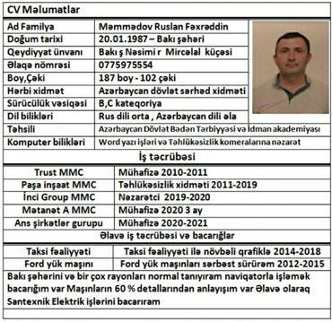 svarsik axtariram - Azərbaycan: Yük maşını sürücüsü. (C). 1-2 illik təcrübə