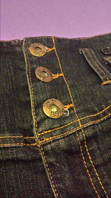 Suknja-hm-pamuk-elastin-cm-struk - Srbija: Markirane teksas suknja, colours of, nova, 40 veličina, struk 80 cm