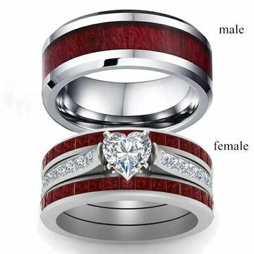 Парные кольца 550 сМужское с красным деревом 300 сЖенское кольцо