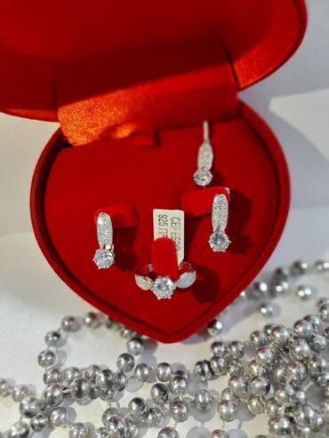 Серебро комплект 925 пробыКачество люкс Шикарный подарок для самых