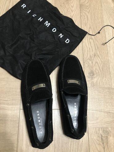 Richmond Италия, 100% оригинал, мокасины, мужские, замша, черные, новы