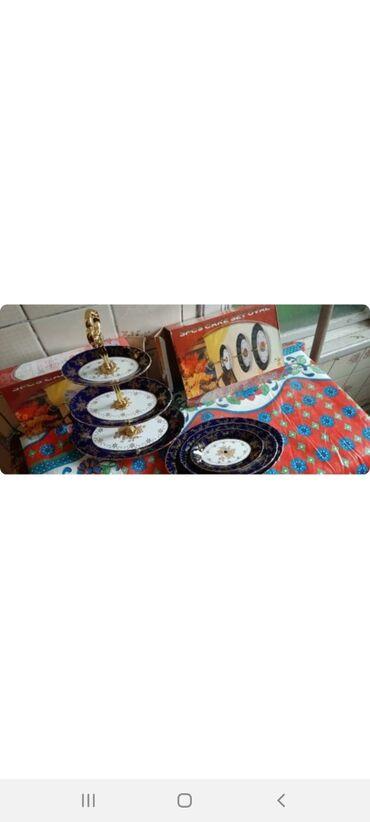 Boşqablar - Azərbaycan: Etajerka satilir,tezedir,15 manata