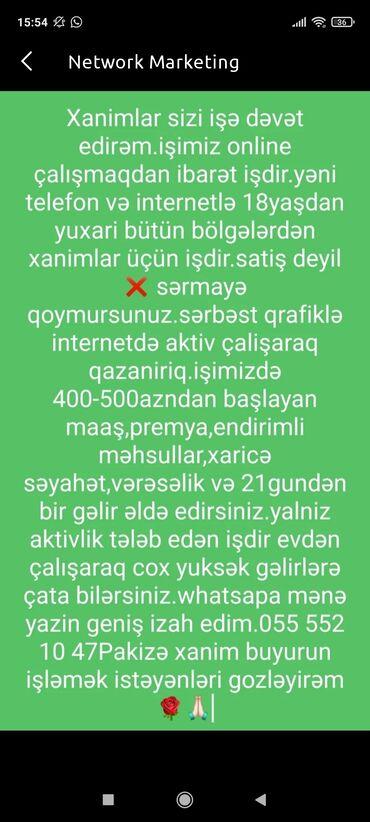 İş - Azərbaycan: Şəbəkə marketinqi məsləhətçisi. Oriflame. İstənilən yaş