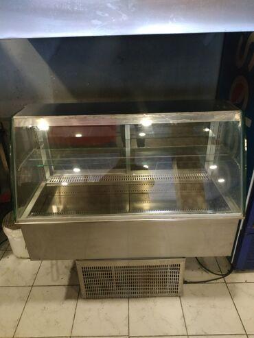 Витринный холодильник для мяса - Азербайджан: Б/у Холодильник-витрина Серый холодильник