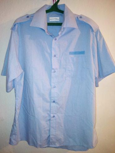 Мужская рубашка в отличном состоянии. 42 ворот. это примерно 46р. в Кок-Ой