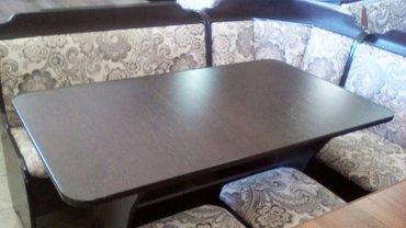 Новый кух уголок. Р-р  1. 2*1. 6. В комплекте уголок стол и 2 табуретк в Бишкек