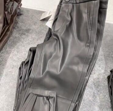 термобудки продажа в Кыргызстан: Кожаные лосины от Zara, причина продажы: заказала с сайта, не подошёл
