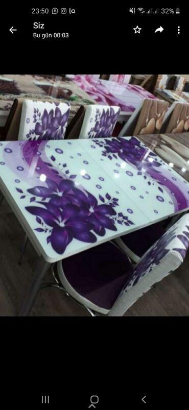 Destler yenidir‼️ masa ve dord oturacag. Masa acilir. Bagli halda