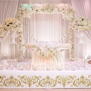 свадебная фотосъемка в Кыргызстан: Свадебный оформление зала @gulnurdekor  #оформлениемероприятий #оформл