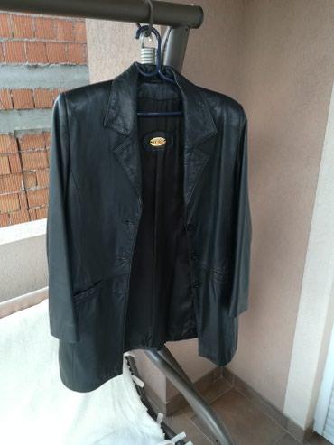 MONA kožna jakna, duži model, broj 40 - Crvenka