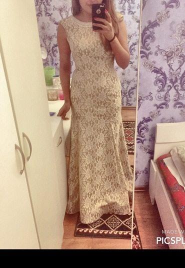 золотое платье в пол в Кыргызстан: Платье в пол. новое, размер . 44-46. 1500с сидит идеально по фигуре