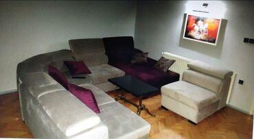Garniture - Srbija: Na prodaju ugaona modularna velika garnitura. Sastoji se iz jednog