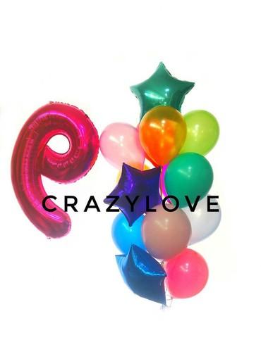 цифры из шаров с полянкой в Кыргызстан: Композиция из шаров! центр города,доставка! любой тематика, шарики