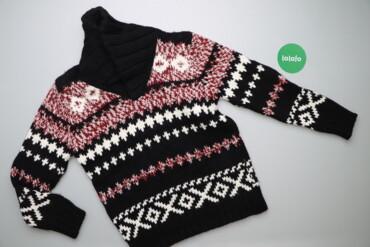 Мужская одежда - Украина: Чоловічий зимовий светр з візерунком Zara Man, p. L    Довжина: 67 см