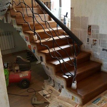 Реставрация дверей лестниц покраска деревянных изделий в Кок-Ой