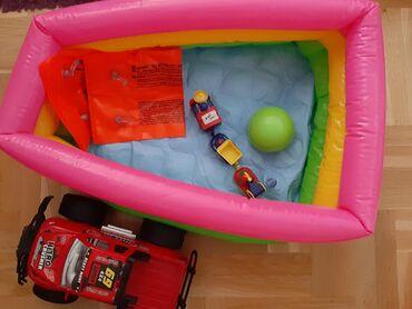 Bubnjevi - Srbija: Paket igracki za decu (okrugli bazen, misici za plivanje, loptica