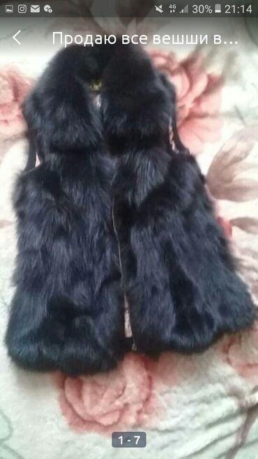 Мех жилетка натуральный кролик размер 46 48
