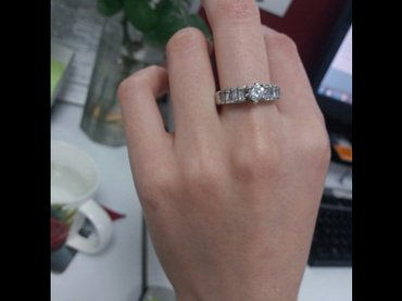 Кольцо серебро 925 пробы размер 18 in Бишкек