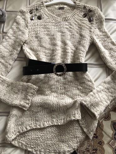 розовый свитерок в Кыргызстан: Стильный теплый свитерок от бершка! Размер 42/46 без ремня!
