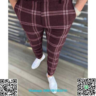 Casual business trousers for men manFashion Men Pants Clothes Plaid