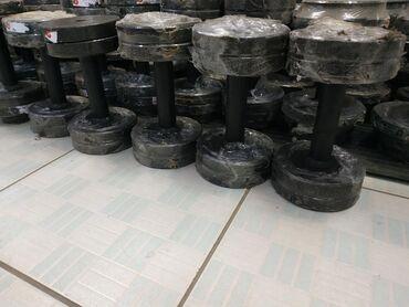 гантели разборные 16 кг в Кыргызстан: 6х6 кг Итого: 12 кг разборные гантели в спортивном магазине