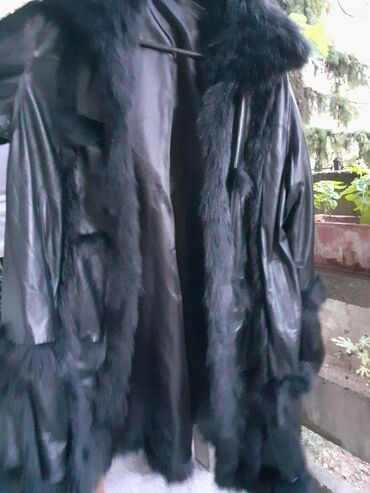 Ženske jakne - Beograd: Crna kozna pelerina