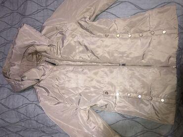 Куртки - Бежевый - Бишкек: Куртка Зара почти новая размер М, с капюшоном (съёмный капюшон) качес