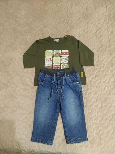Кофточка с джинсами 6-9 м