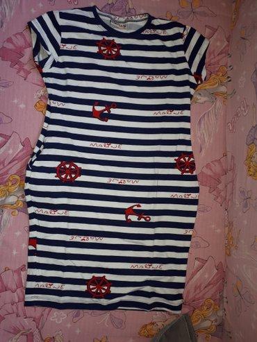 Mornarska haljinica pamucna...samo oprana..ima dzepove sa strane.vel - Sremska Mitrovica