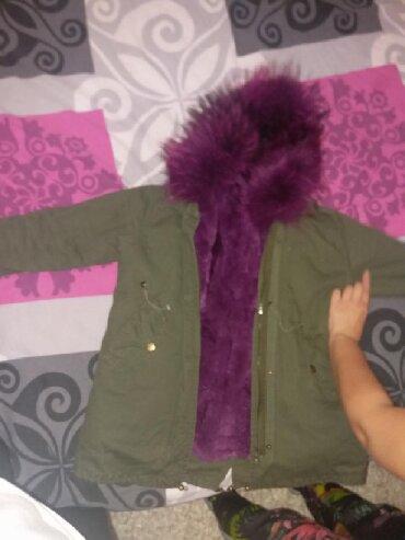 Dečija odeća i obuća - Nis: Nova parka decija jakna,za devojcicu 150cm. Postavljena pravim krznom