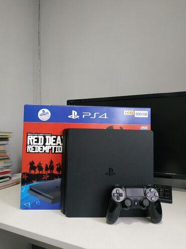 PS4 (Sony Playstation 4) в Кыргызстан: Продаю PS4 SLIM 500gb. В идеальном состоянии,Заводская пломба на